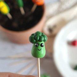 polymer clay broccoli craft