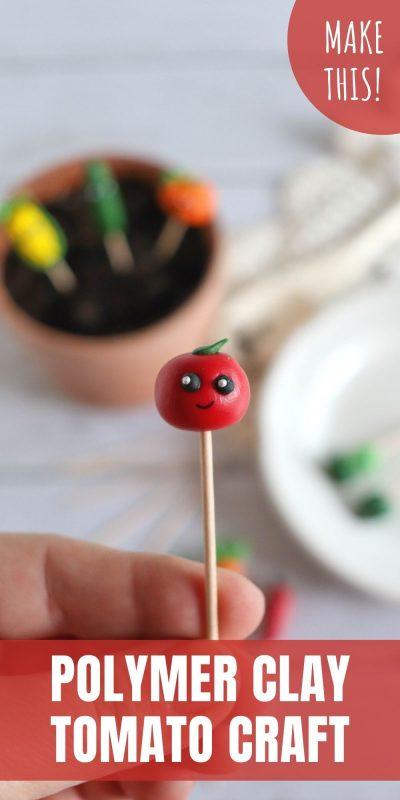 polymer clay tomato craft