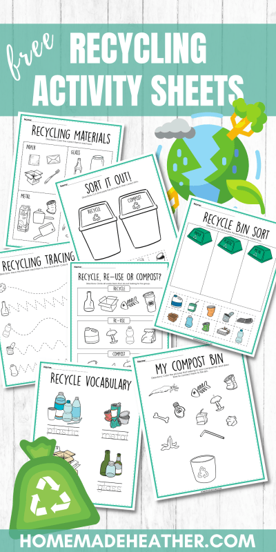 recycling activity printables