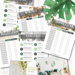 spring clean organization printables