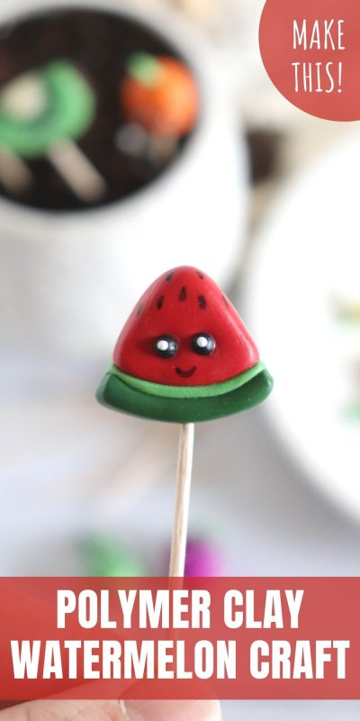 clay watermelon craft