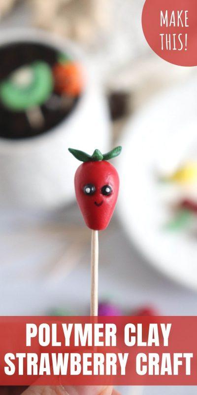 clay strawberry craft