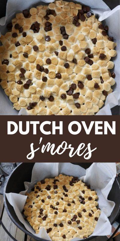 dutch oven smores recipe