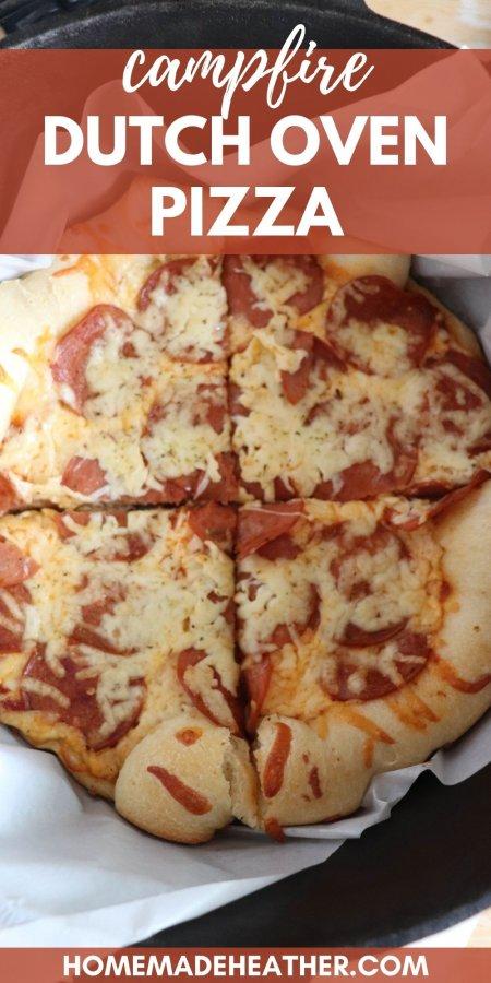 Campfire Dutch Oven Pizza