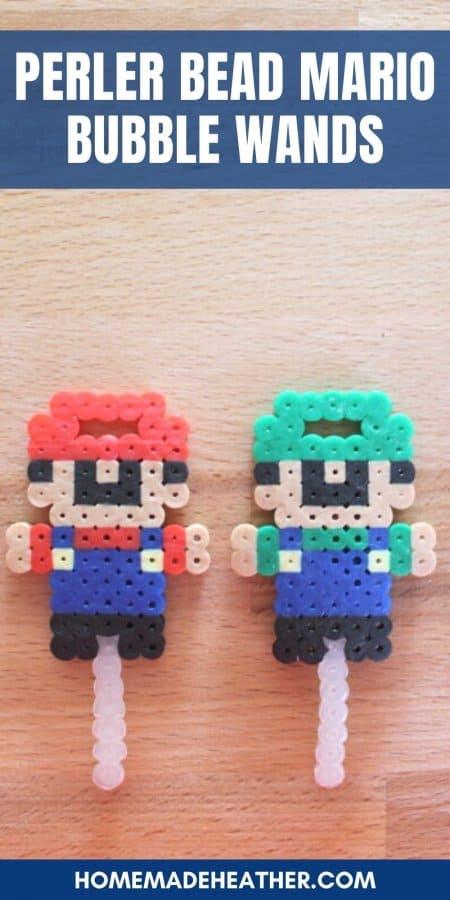 Perler Bead Mario Bubble Wands