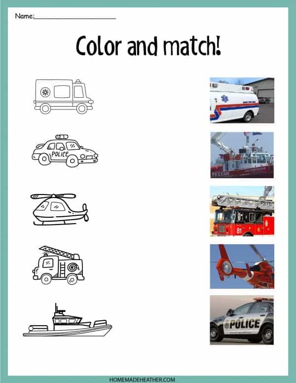 Emergency Color Match  Work Sheet