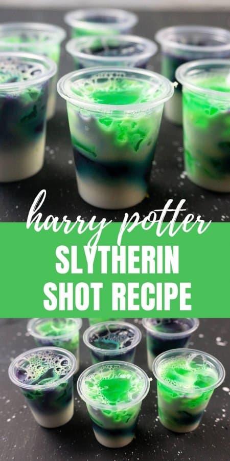 Harry Potter Slytherin Shot Recipe