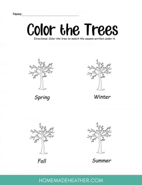 Free Tree Activity Printables