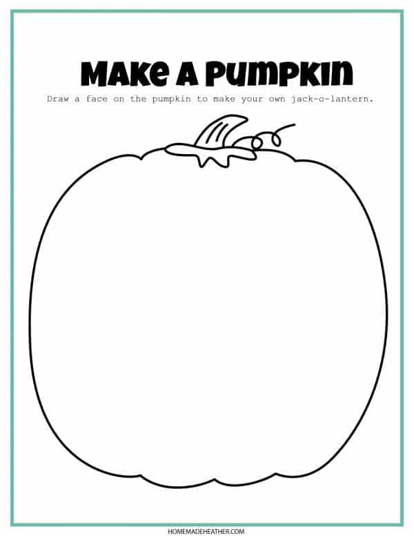 draw a pumpkin printable
