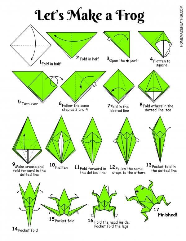 Free Origami Frog Printable Design