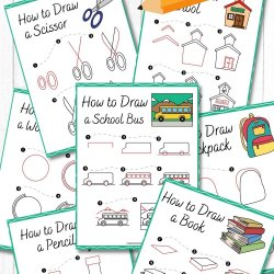 Free Back to School Drawing Printables