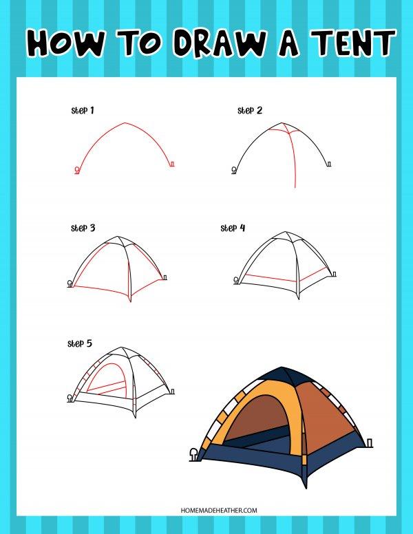 Free Drawing Tent Printable