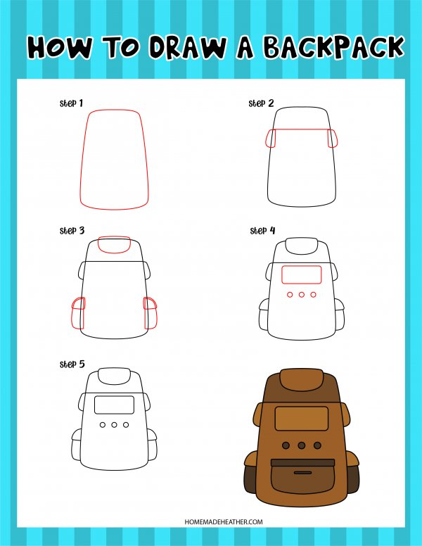 Free Drawing Backpack Printable