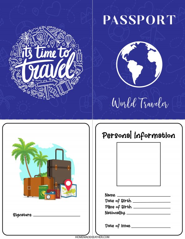 Free Pretend Passport  Printable