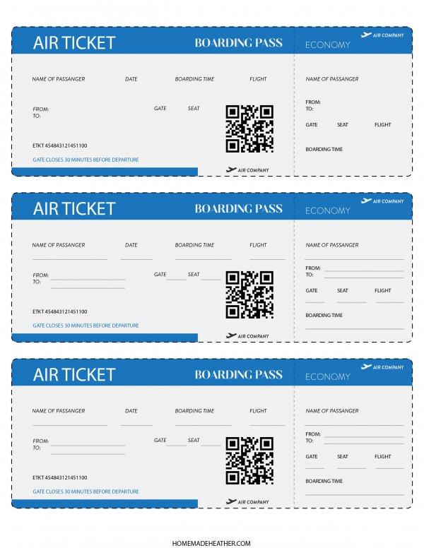 Free Pretend Travel Printables