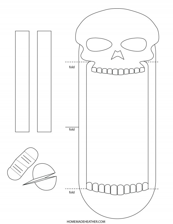 Skull Puppet Printable