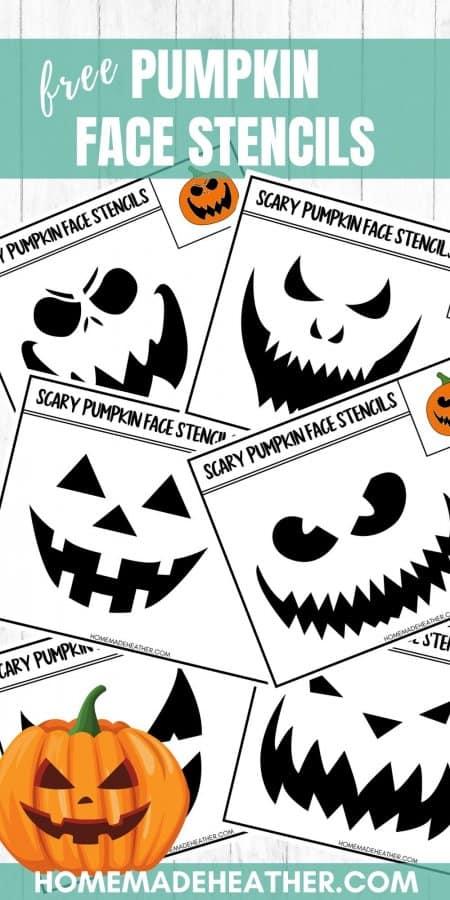 Free Printable Pumpkin Face Stencils