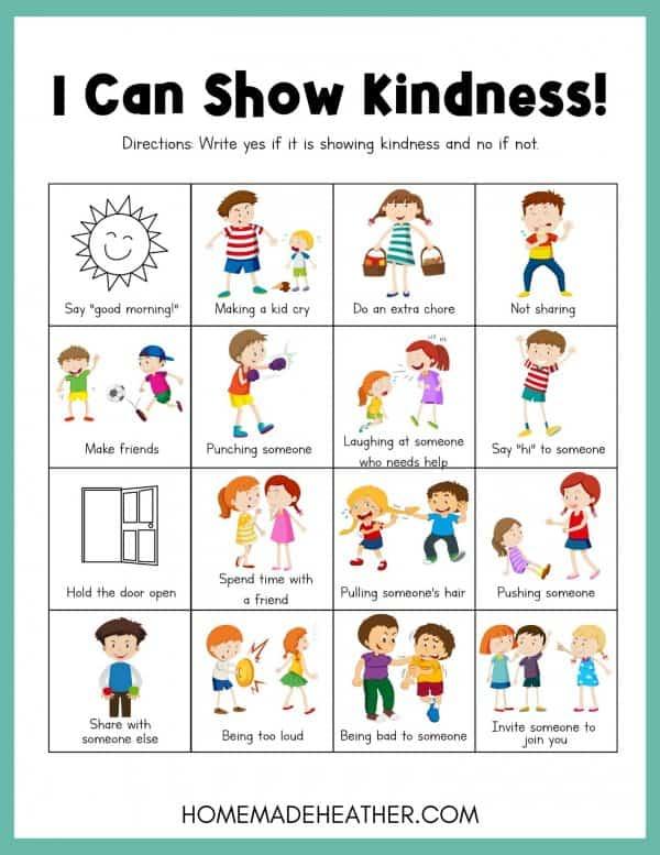 Free Kindness Activity Printable