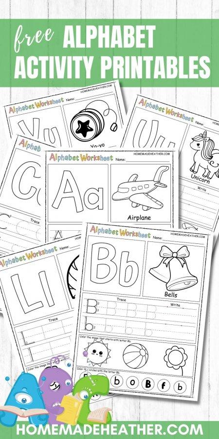 Free Alphabet Activity Printable Worksheets
