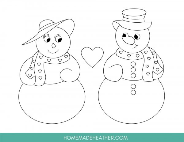 Free Snowman Coloring Page