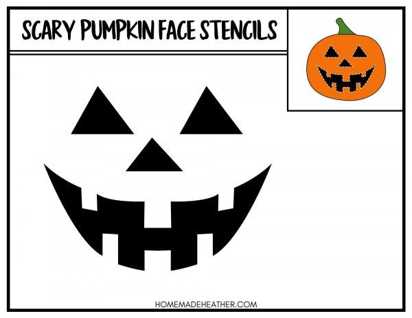 Free Printable Pumpkin Face Stencil