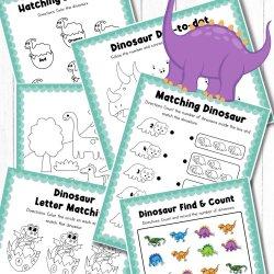 Dinosaur Activity Printable Work Sheets