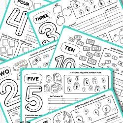 Tracing Number Worksheet Printables