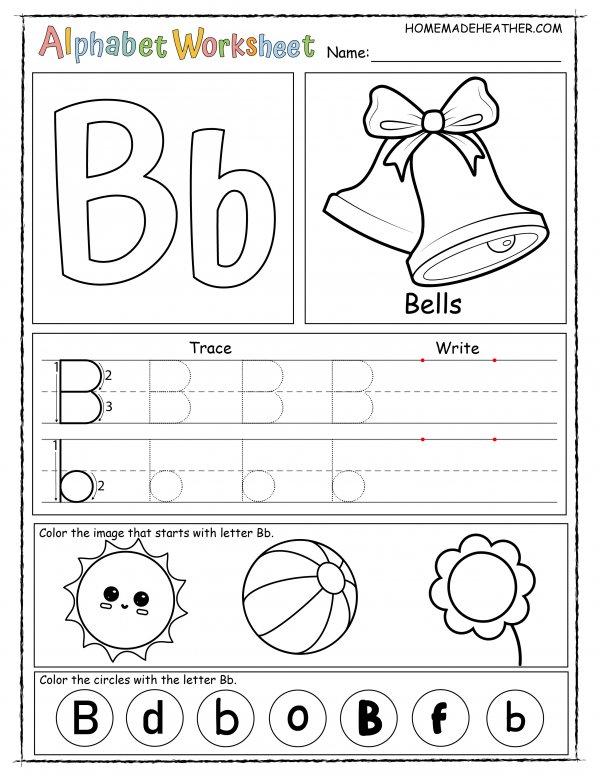 Letter B Printable Worksheet