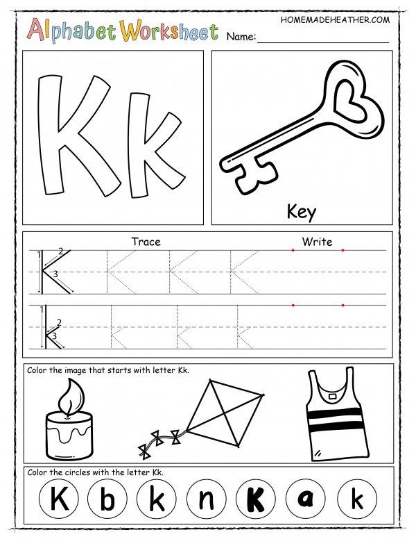 Letter K Printable Worksheet