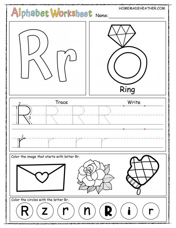 Letter R Printable Worksheet