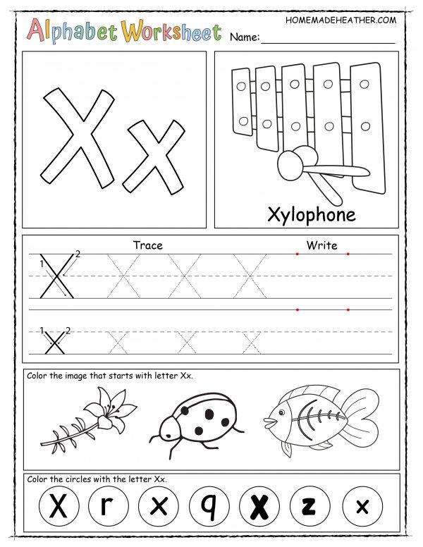 Letter X Printable Worksheet