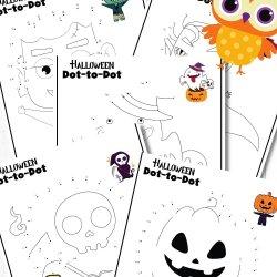 Free Halloween Dot to Dot Printables