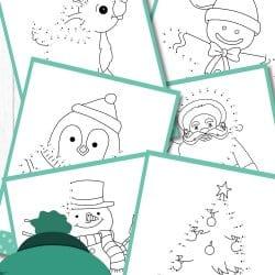 Free Christmas Dot to Dot Printables