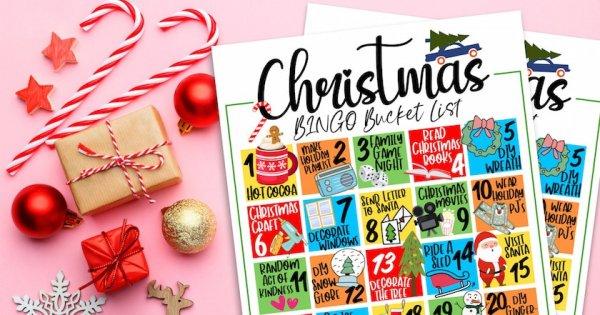 Christmas Bucket List Bingo