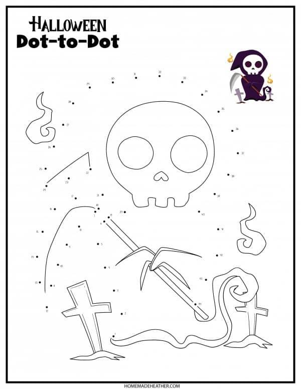 Free Halloween Dot to Dot Printable