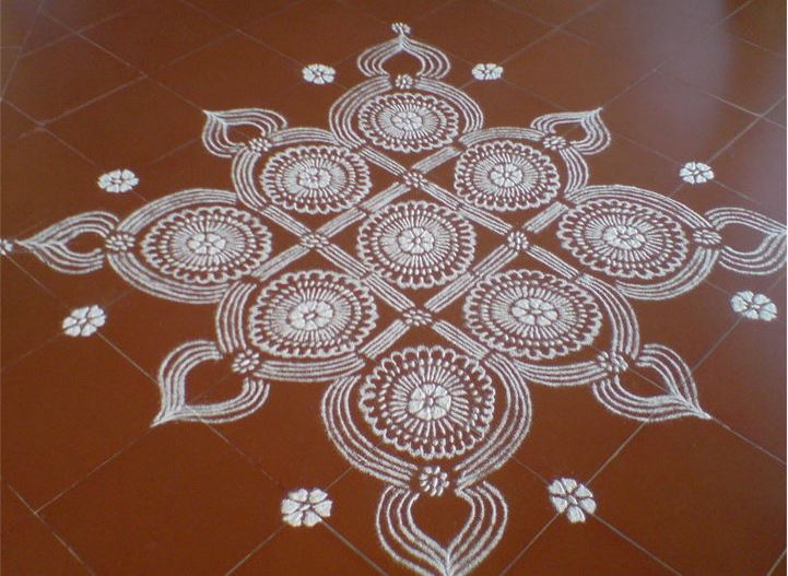 Kolam Designs Pooja Room And Rangoli Designs