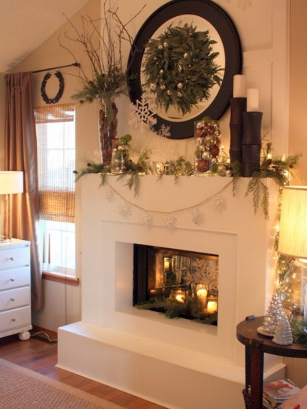 Xmas Fireplace Decorations