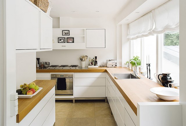 Kitchen Cabinets Brick Walls And White