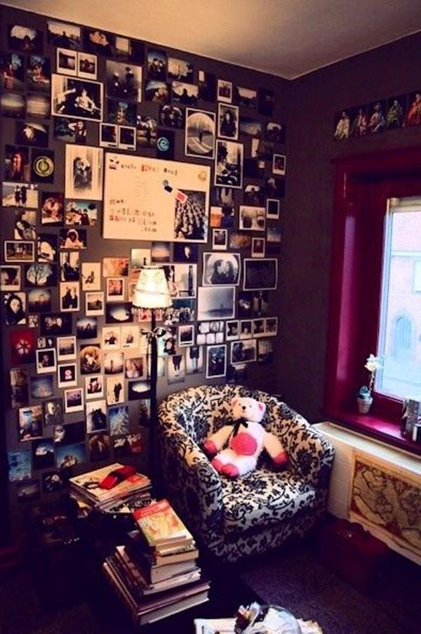 Teen Romantic Photo Wall Ideas