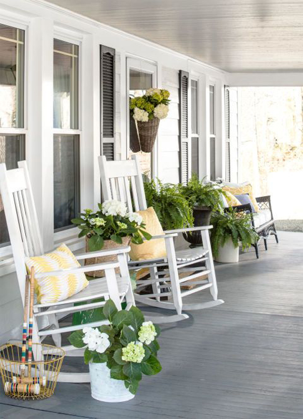 January Front Porch Decorating Ideas