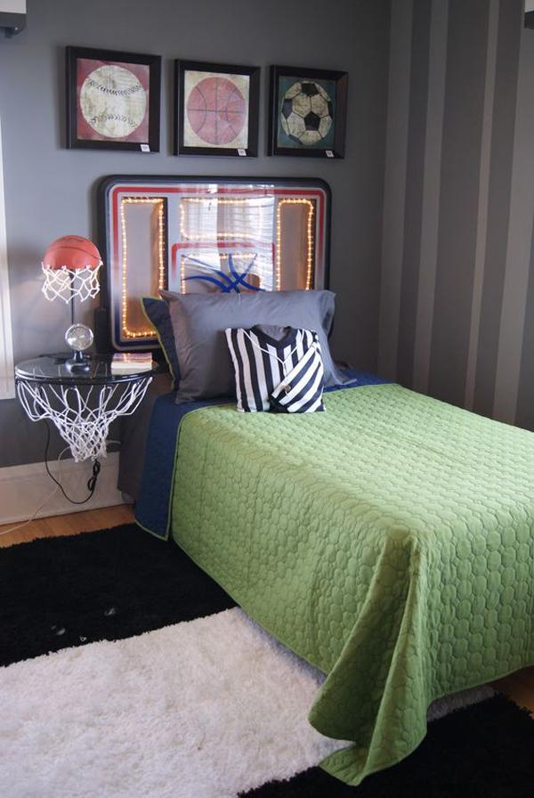 25 Modern Teen Boys Room With Sport Themes Homemydesign