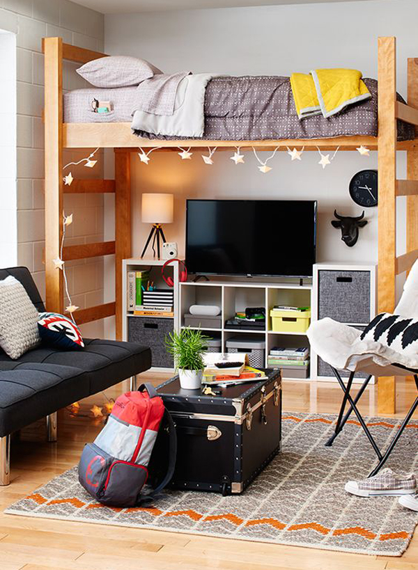 20 Brilliant Dorm Room Organization For Everything You Want   Home     Living in a dorm room is full of joy and sorrow  let alone a small dorm room  should be shared with roommates  We must be really smart set dorm room to  still