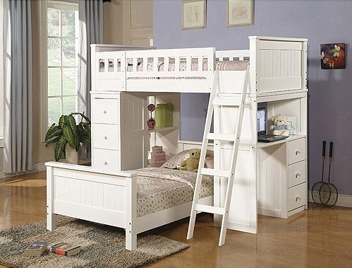 White Bunk Beds With Storage And Its Advantages Home
