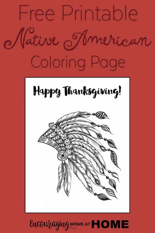 Pilgrim Pages Indian Coloring And