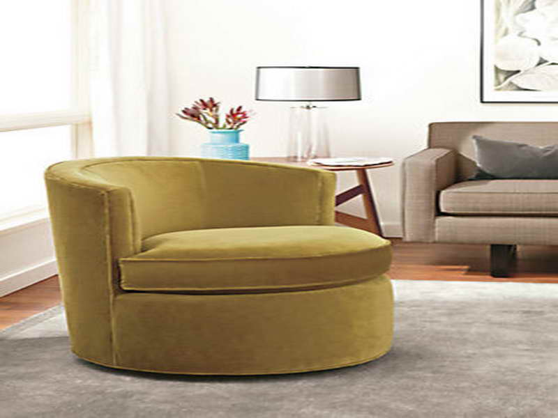 Chair Tufted Accent Yellow