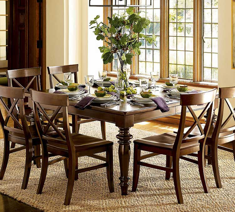 Centerpieces for Dining Room Tables   HomesFeed Centerpieces For Dining Room Tables Ideas For Rectangular Wooden Table And  Six Chairs With Awesome Dining