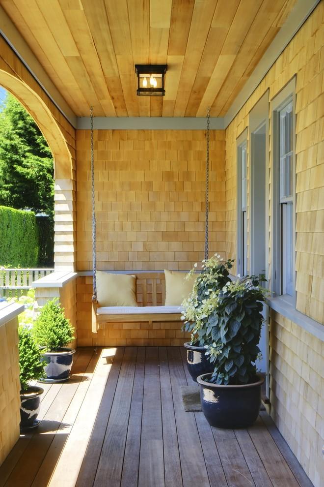 Wooden Pillars Porch