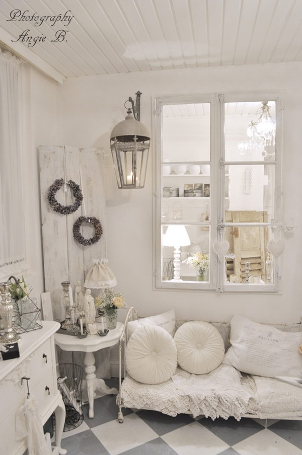 55 Romantic Shabby Chic Living Room Ideas 2017