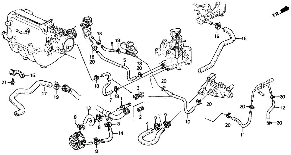 1999 Accord Starter Location Honda