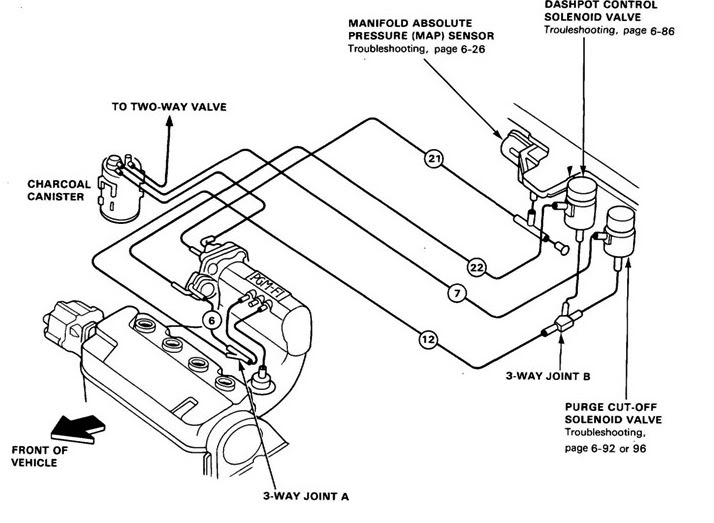 Honda D16z6 Vacuum Diagram